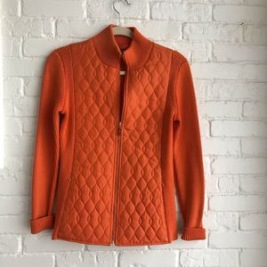J McLaughlin Quilted Jacket like new 100 % Silk
